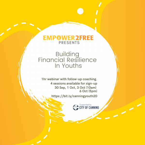 empower2free workshop on building financial resilience in youths teaching growth mindset