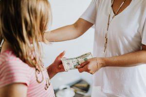 giving children money